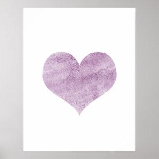 'Grunge Pink Heart'  Poster - Wall Decor