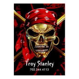 Grunge Pirate Business Card template