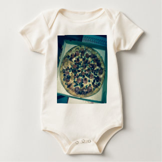 Grunge pizza apparel and items baby bodysuit