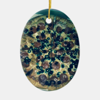 Grunge pizza apparel and items christmas ornament