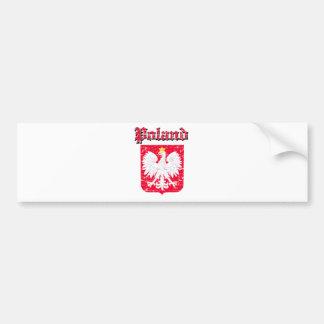 Grunge  Poland coat of arms designs Bumper Sticker