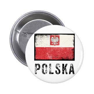 Grunge Polska 6 Cm Round Badge