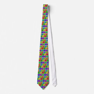 Grunge Pop Art Popart Polar Bear Closeup Colorful Tie