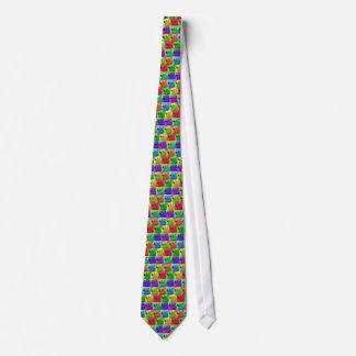 Grunge Pop Art Popart Polar Bear Closeup Colorful Tie