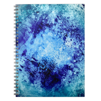 Grunge Print Spiral Notebook