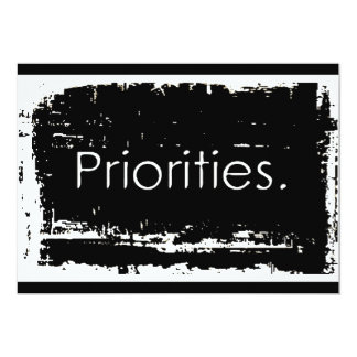 Grunge Priorities Personalized Announcements