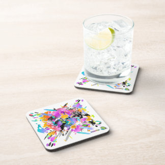 GRUNGE PUNK SPLATTER ART COASTERS