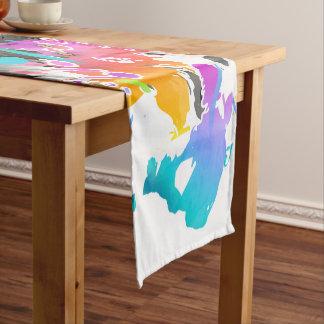 GRUNGE PUNK SPLATTER ART SHORT TABLE RUNNER