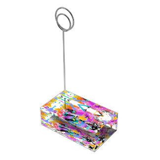 GRUNGE PUNK SPLATTER ART TABLE CARD HOLDERS