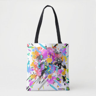 GRUNGE PUNK SPLATTER ART TOTE BAG