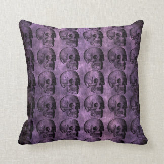 Grunge Purple Skulls Mojo Pillow