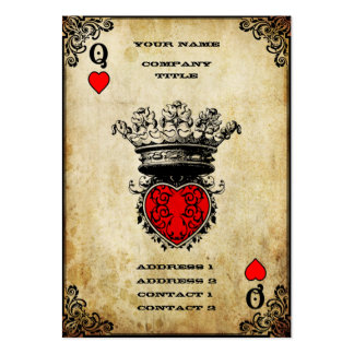 Grunge Queen of Hearts Pack Of Chubby Business Cards