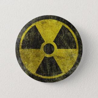 Grunge Radioactive Symbol 6 Cm Round Badge