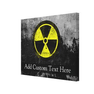 Grunge Radioactive Symbol Canvas Print