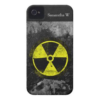 Grunge Radioactive Symbol iPhone 4 Case-Mate Case