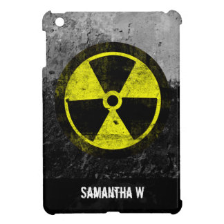 Grunge Radioactive Symbol Cover For The iPad Mini