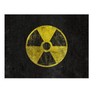 Grunge Radioactive Symbol Postcard