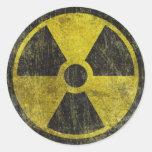 Grunge Radioactive Symbol Stickers