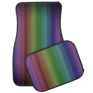 Grunge Rainbow Rock Stripe Line Pattern Car Mat