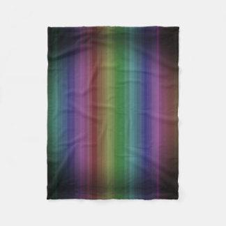Grunge Rainbow Rock Stripe Line Pattern Fleece Blanket