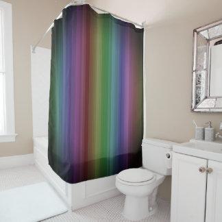 Grunge Rainbow Rock Stripe Line Pattern Shower Curtain