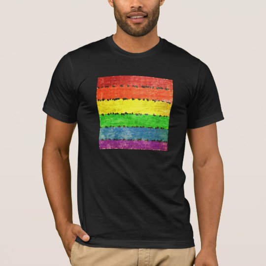 Grunge Rainbow Stripes T-Shirt