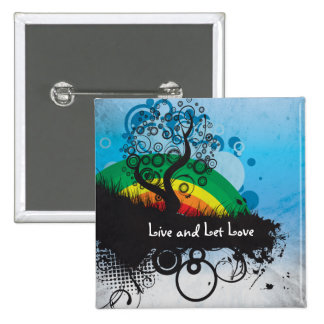 Grunge Rainbow Tree Customizable Pins