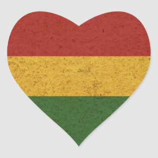 Grunge Rasta Colors Flag Sticker