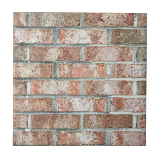 Grunge Red Brick Wall Brown Bricks Background Tan Small Square Tile