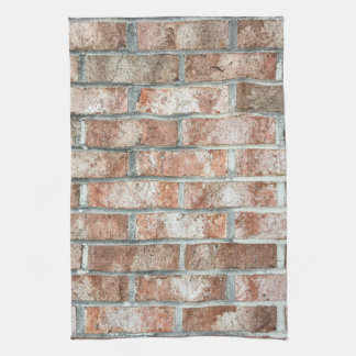 Grunge Red Brick Wall Brown Bricks Background Tan Tea Towel