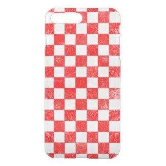 Grunge red checkered, abstract background iPhone 8 plus/7 plus case