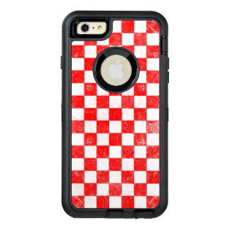 Grunge red checkered, abstract background OtterBox iPhone 6/6s plus case