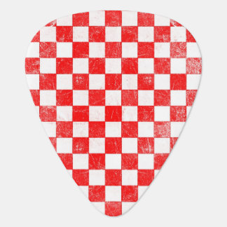 Grunge red checkered, abstract background plectrum
