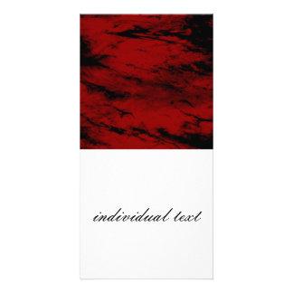 Grunge RED Custom Photo Card