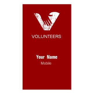Grunge Red Volunteers Business Cards