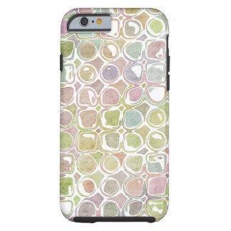 Grunge Retro Distressed Circle & Square Pattern Tough iPhone 6 Case