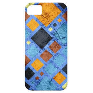 Grunge Retro Modern Squares Pattern iPhone 5 Cover