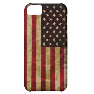 Grunge Retro Style USA Flag Old Glory iPhone 5C Cases