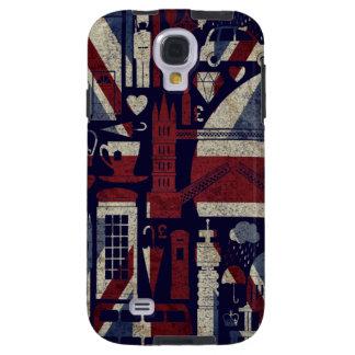 Grunge Retro Union Jack Love London Symbols  S4 Ca Galaxy S4 Case