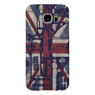 Grunge Retro Union Jack Love London Symbols Samsung Galaxy S6 Cases
