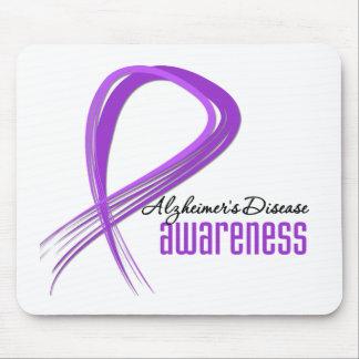 Grunge Ribbon Alzheimer s Disease Mouse Pad