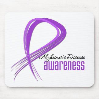 Grunge Ribbon Alzheimer's Disease Mouse Pad
