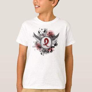 Grunge Ribbon And Wings Amyloidosis Shirts