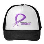 Grunge Ribbon Pancreatic Cancer Survivor