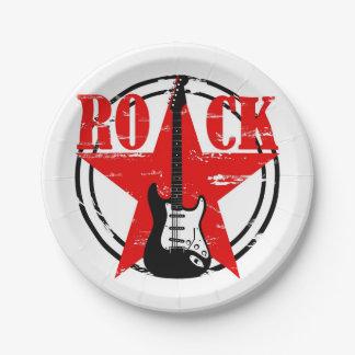 Grunge rock 7 inch paper plate