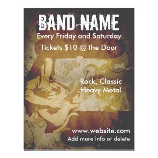 Grunge Rock Guitarist Flyer