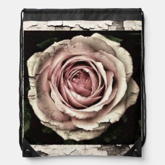 Grunge rose backpack