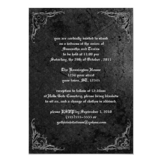 Grunge Rose Damask Gothic Invitation