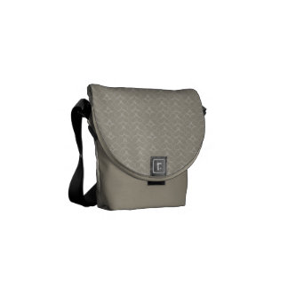 Grunge Rough Circles Messenger Bag
