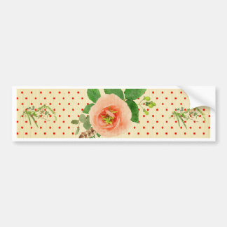 Grunge,rustic,vintage,floral,coral,victorian,girly Bumper Sticker